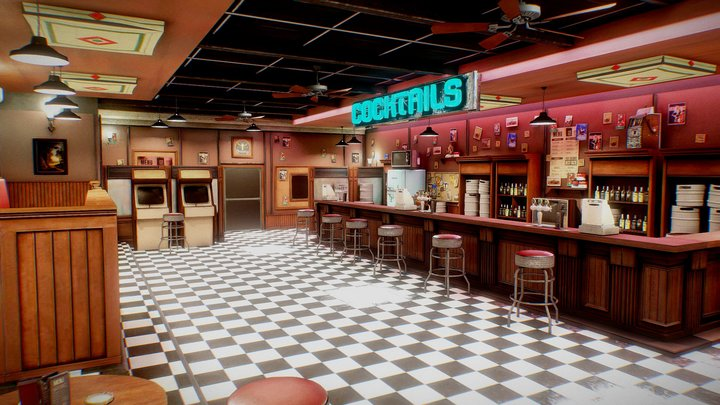 Night Bar 3D Model