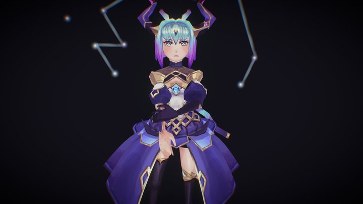 Knights Chronicle - Galaxy Fairy Nix Fanart 3D Model
