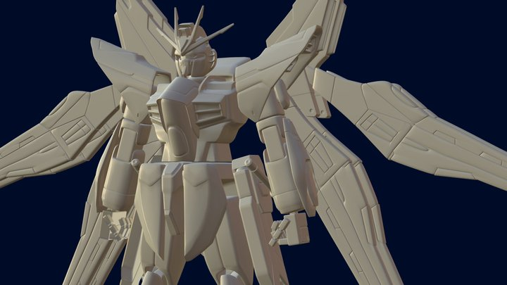 ZGMF-X20A Strike Freedom Gundam 3D Model