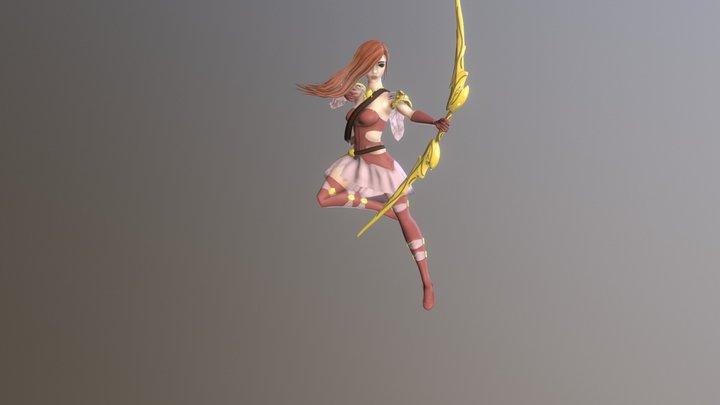 Archer Girl in the dress 3D Model