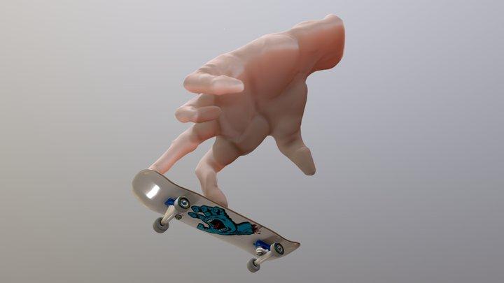 Skateboarding 3D Model