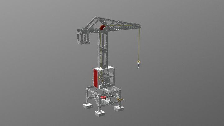 S224 Turmdrehkran 3D Model