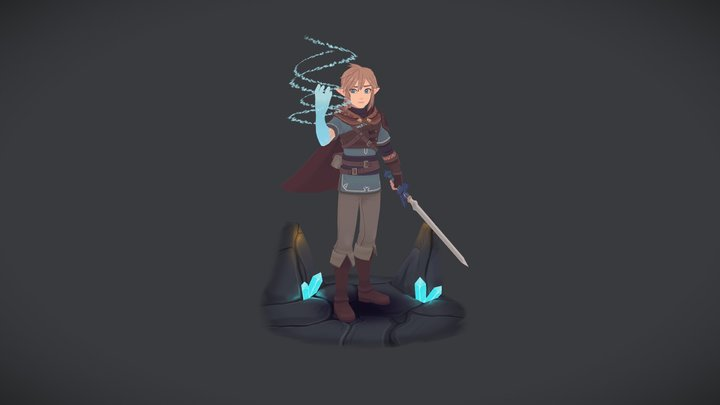Link - Breath Of The Wild 3D Model