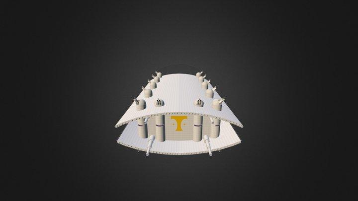 Epoche 3 Belagerungsschiff 3D Model