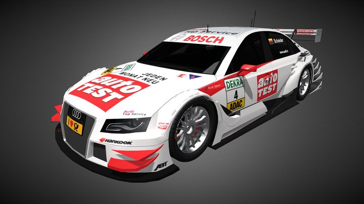 Audi A4 DTM 2011 - Timo Scheider 3D Model