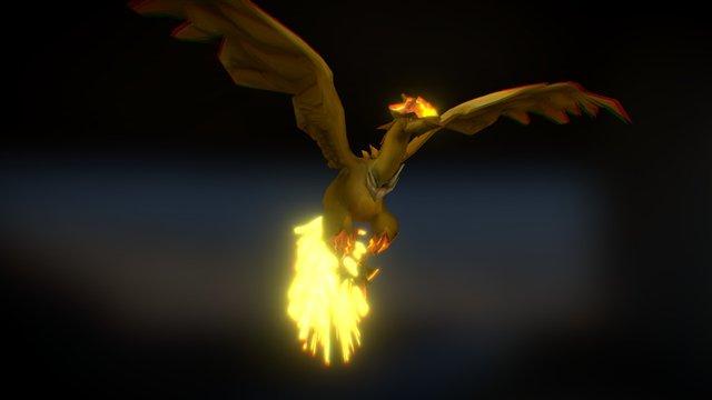 Fire Bird 3D Model