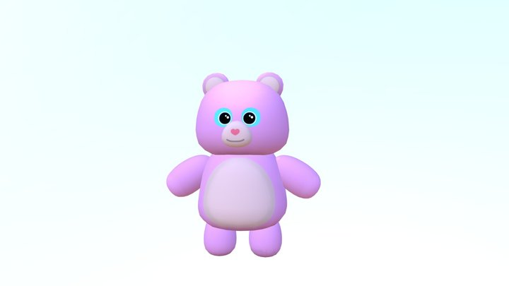 Sugar Teddy Bear 3D Model