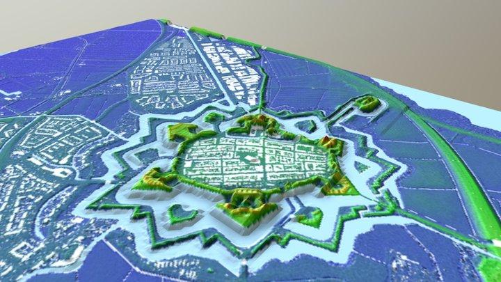 Naarden-Vesting 3D Model
