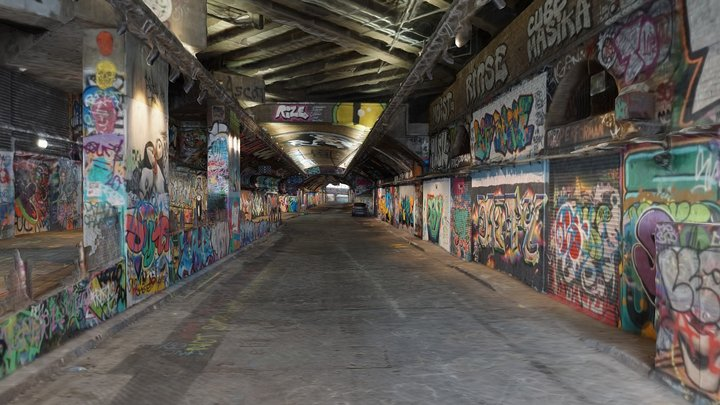 Leake Street Graffiti Tunnel 3D Model