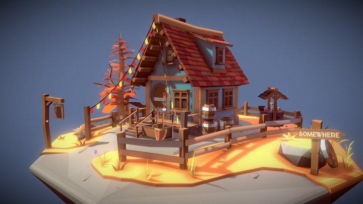 Medieval Fantasy Tavern 3D Model