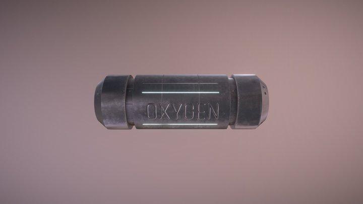 Sci-Fi Oxygen Tank 3D Model