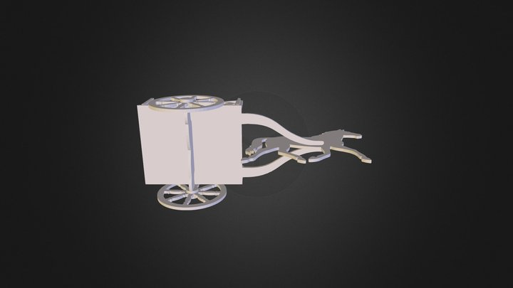 assembly horse and buggy 3D Model