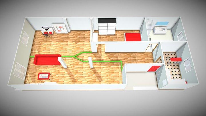 Piso San Celedonio 3D Model