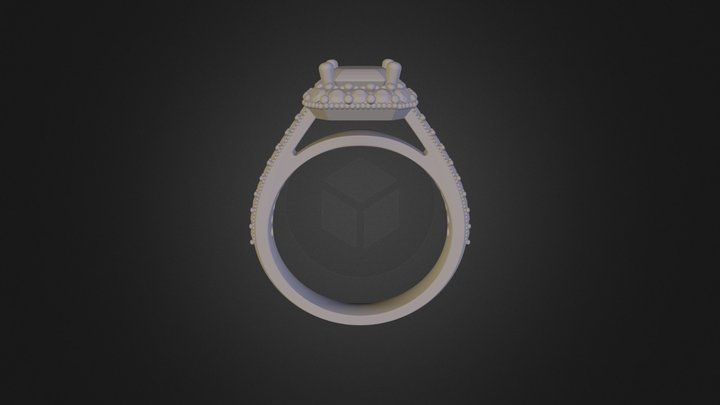 Emerald_Cut_Ring 3D Model