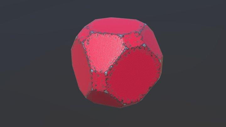 Procedural Rust Material 3D Model