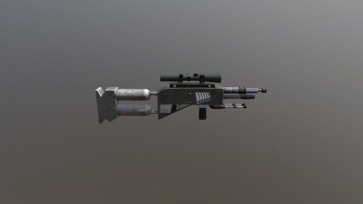 Modern/Sci-Fi DMR Rifle 3D Model