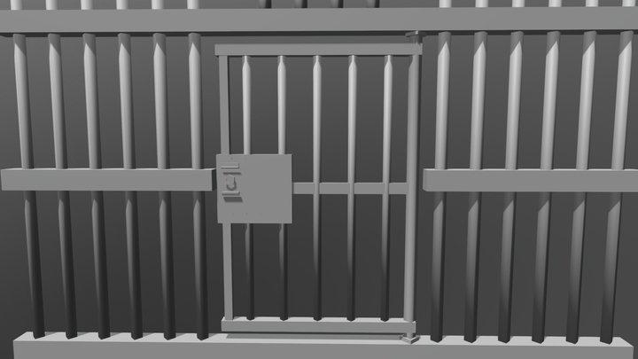 Jail bars 3D Model