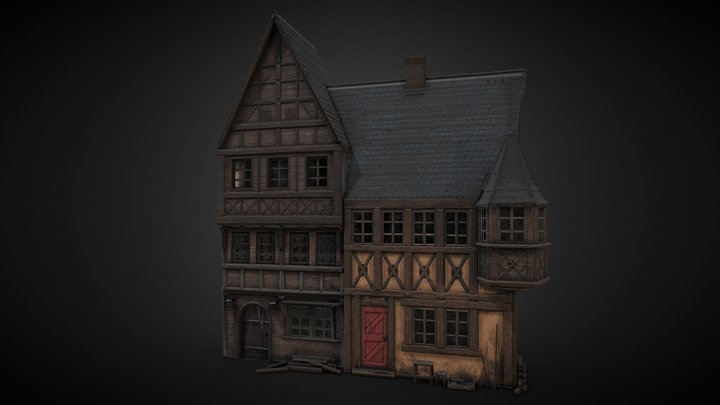 Hamlet Facade Right 3D Model