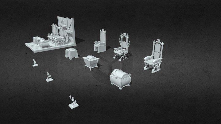 (HW XYZ School) Siluet 3D Model