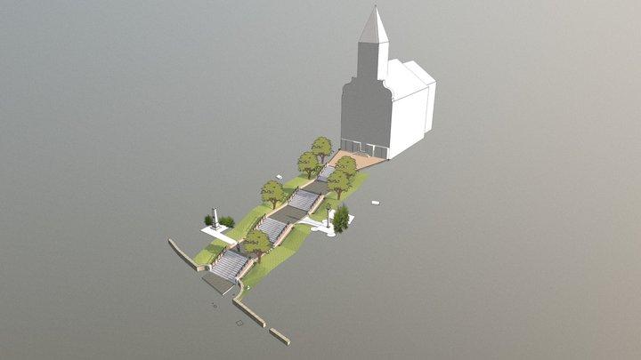 Felnémeti templomlépcső 3D Model