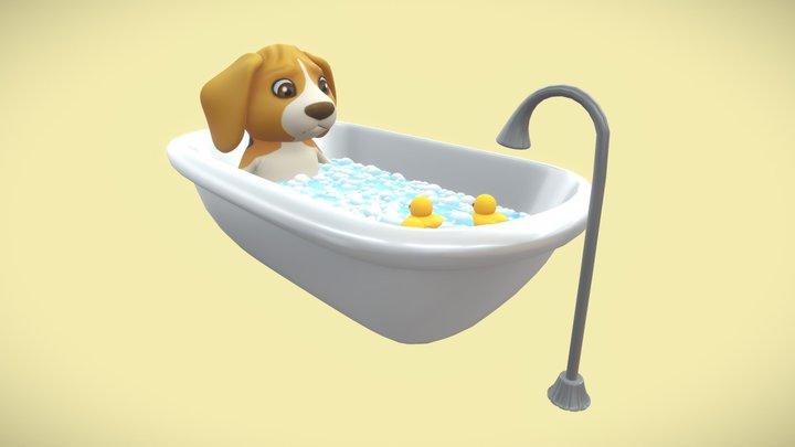 Junie The Beagle 3D Model