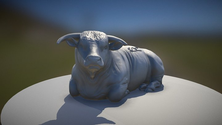 Detailed Hereford Cattle - 1/64 3D Model