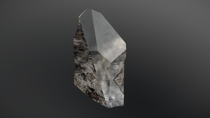 Quartz, small broken fragment 3D Model
