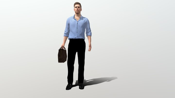 Casual Man stand 3D Model