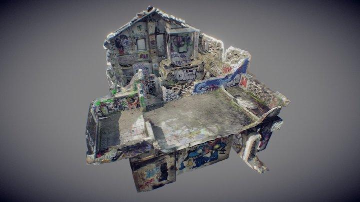 abandoned railroad house 3D Model