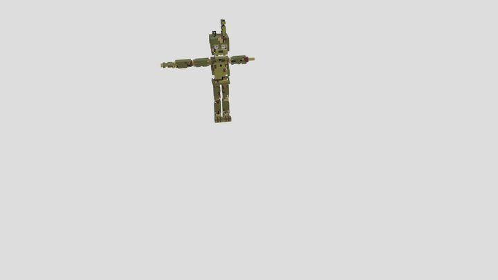 fnaf 6 scraptrap by enchantedmob 3D Model