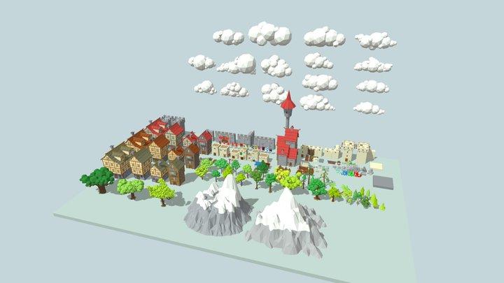 Medieval City Pack 3D Model