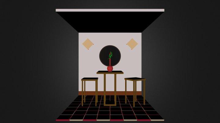Cafe Scene 3D Model