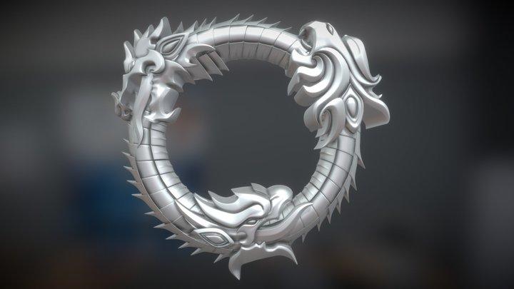 Elder Scrolls Online Logo 3D Model