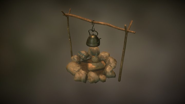 Camping Items 3D Model