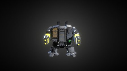 Space Wolves Dreadnought 3D Model