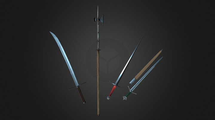Medieval Weaponry Pack 3D Model