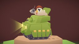 Chicken Tank Commander 3D Model