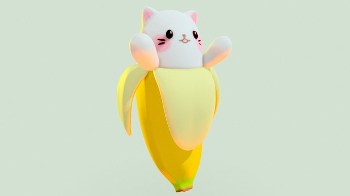 Bananya Birbo 3D Model