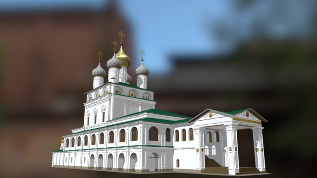 Sobor of Passion Virgin 1910 year 3D Model