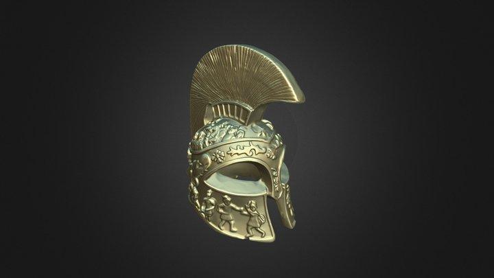 A Roman soldier's helmet 3D Model