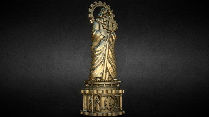 Tabletop Mechanical Priest Statue 3D Model