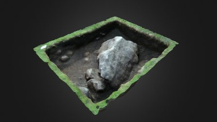 Reading The Hurlers - Archaeology Dig Trench J 3D Model