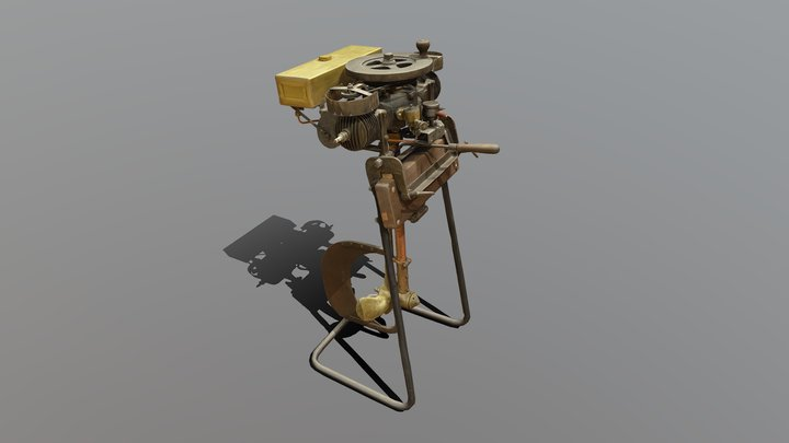 "LOW ""Archimedes"" perämoottori - Outboard engine 3D Model"