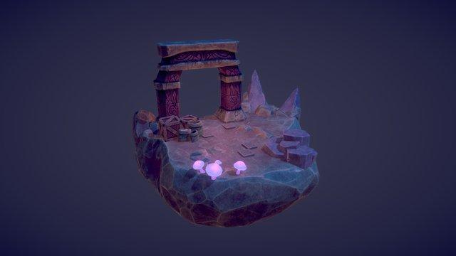 Mind the Trap - Cave Environment 3D Model