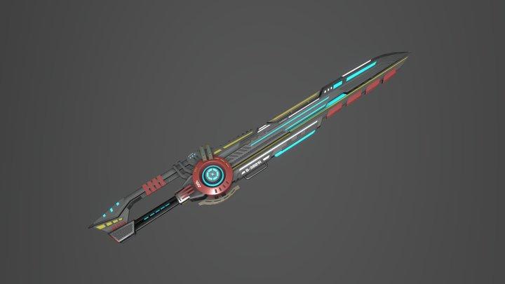 Sci-fi Sword - game asset 3D Model