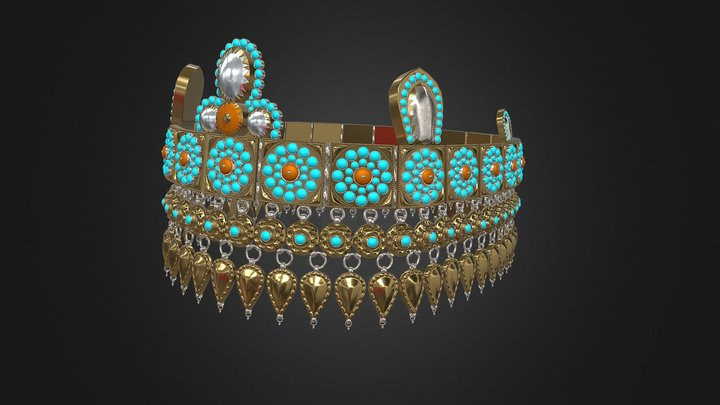 Uzbek Crown 3D Model