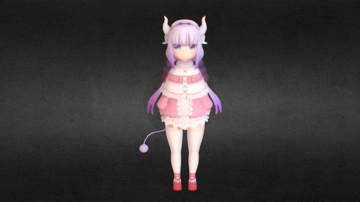 Kanna Kobayashi Dragon Maid 3D Model