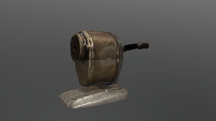 Rusty Pencil Sharpener 3D Model
