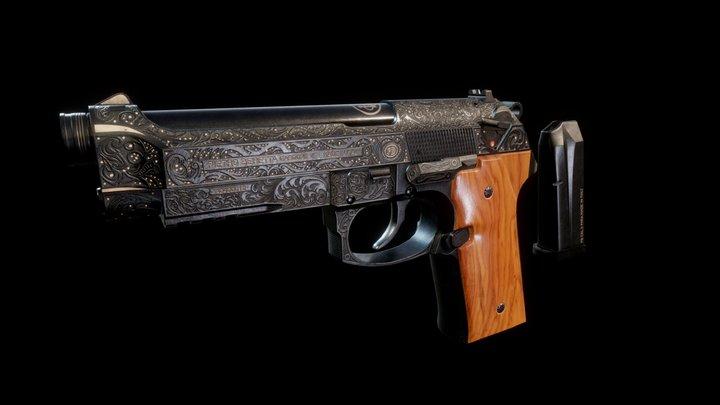 Beretta M9A3 3D Model