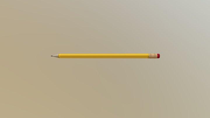 Simple Pencil 3D Model